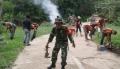 Mantap, Koramil 05/Peranap Goro Bersama Ormas PP dan Masyarakat