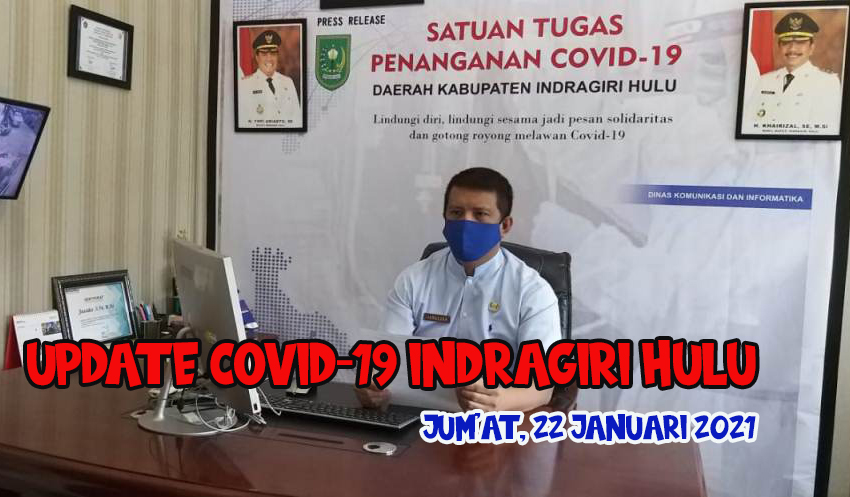 Update Covid-19 Indragiri Hulu, Jum'at 22 Januari 2021